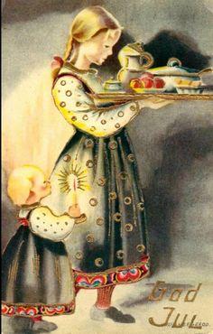 Holiday Cards, Christmas Cards, Christmas Decorations, Vintage Cards, Vintage Postcards, Christmas And New Year, Vintage Christmas, Norwegian Christmas, Christmas Postcards