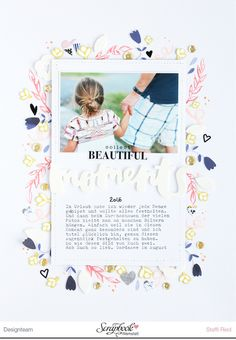"Steffi Ried Layout ""Collect beautiful moments"" mit dem SBW Monatskit ""Regentanz"" #scrapbooking"