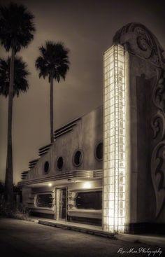 Abandoned Art Deco building, Morro Bay, California. Photo by Renée M. Besta.