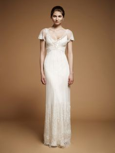 Reminds me of Ginger Rogers dress in Top Hat    Art Nouveau Wedding Gown || Jenny Packham Foxglove