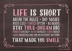 Das ist Leben ist zu kurz!