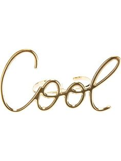 For the quirky girl: Lanvin 'Cool' Ring. Discover all the luxury holiday gifts shop.genteroma.com