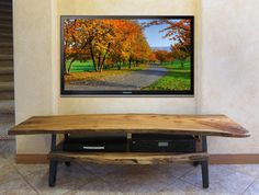 Image detail for - Live_Edge_TV_Stand_Rustic_Contemporary_Modern_Solid_Slab_grande.jpg