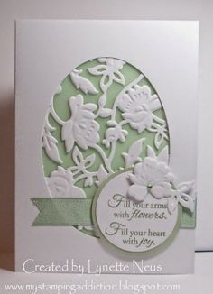Anna Griffin Flower bramble die ; Cuttlebug Anna Griffin Rosa embossing folder