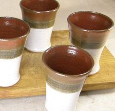 Stoneware+Ceramic+Pottery+Tumbler+in+Red+and+by+Meadowlandspottery,+$14.00