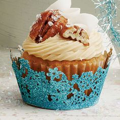 Coconut-Pecan Cupcakes:    Coconut cupcakes topped with a sweet Caramel Frosting make for a perfect after-dinner treat.