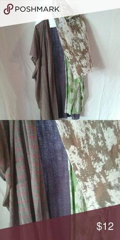 "Scarves  (3) Gently used bundle of 3 long scarves, gray/pink is 22"" wide, Purple striped is 22"" wide, green/brown is 14"" wide Accessories Scarves & Wraps"