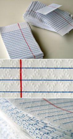 run layered notebook paper through my EPIC 6