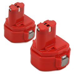 POWERAXIS 2 Packs 12V 3.0Ah Ni-MH Extended Battery Replacement for Makita 1233/1234/1235/1235B/1235F/192696-2/192698-8/192698-A/193138-9/193157-5 Cordless Power Tool(Red) *** Special  product just for you. See it now! : home diy improvement