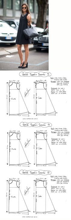 Creating DIY Fashion Trends – Designer Fashion Tips Sewing Patterns Free, Clothing Patterns, Dress Patterns, Diy Clothing, Sewing Clothes, Sewing Hacks, Sewing Tutorials, Diy Kleidung, Diy Couture
