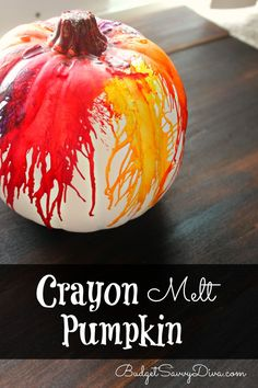 REALLY Wild and Easy Craft Perfect for Halloween - Crayon Melt Pumpkin Craft