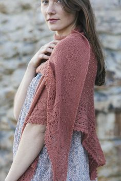 serena by paulina popiolek / from the shawls 2016 collection / in quince & co. piper, color pampa