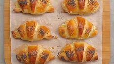 Kuracie croissanty Spanakopita, Muffin, Bread, Breakfast, Ethnic Recipes, Food, Basket, Mascarpone, Morning Coffee