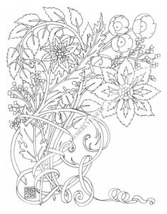 Part of a collection of adult coloring pages where you can add your own sentiment. This page can be downloaded as a printable page on Etsy.