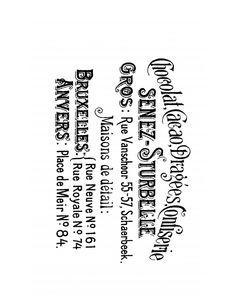 Etiqueta o postal francesa vintage para decoupage blanco y negro. Vintage publcity french decoupage.