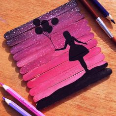 Ice cream sticks art by: @colours_to_inspire #arts_realistic Follow our second page: @artworksvideos