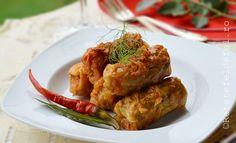sarmalle in foi de varza murata Baked Potato, Shrimp, Potatoes, Meat, Chicken, Baking, Ethnic Recipes, Dinner Ideas, Food