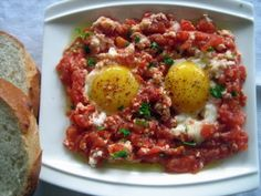 Tomato with Eggs  more yumurtali food!  yum!