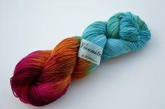 Handgefärbte Sockenwolle Marrakesch von Wollträume auf DaWanda.com