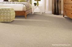 Perfect for the bedroom  - Mohawk Flooring's Relaxed Moment carpet - TotalValueFlooring.com