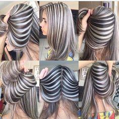 Striped hair