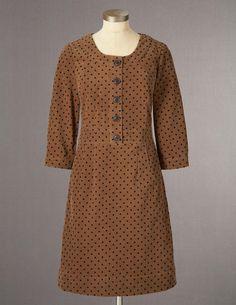 Placket Cord Dress, cotton corduroy, Boden $128
