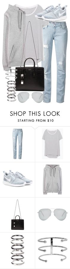 """""""Untitled #19473"""" by florencia95 ❤ liked on Polyvore featuring Paige Denim, Zara, NIKE, T By Alexander Wang, Yves Saint Laurent, Victoria Beckham and M.N.G"""