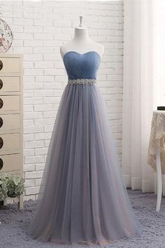 Buy Cute A Line Sweetheart Tulle Blue Strapless Beads Prom Dress, Bridesmaid Dresses uk in uk.Shop our beautiful collection of unique and convertible long Prom dresses from PromDress.uk,offers long bridesmaid dresses for women in the UK. Pretty Prom Dresses, A Line Prom Dresses, Wedding Party Dresses, Cute Dresses, Elegant Dresses, Maxi Dresses, Summer Dresses, Strapless Prom Dresses, Casual Dresses
