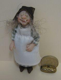 "Just 3"" tall  Handmade Ooak Character Doll by joy of Adora Bella Minis."