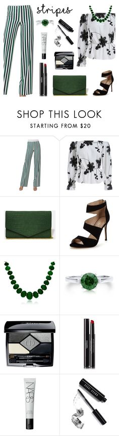 """""""Striped pants"""" by kenga08 ❤ liked on Polyvore featuring Akris Punto, Carvela, Bling Jewelry, BERRICLE, Christian Dior, Chanel, NARS Cosmetics, Bobbi Brown Cosmetics and stripedpants"""