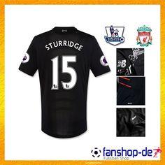 25747d1173 Neueste FC Liverpool Auswärtstrikot LOVREN 15 Schwarz 2016 2017 Fan Shop  Kaufen