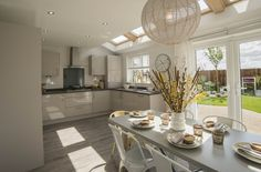 Fairwood Kitchen – Gloss Cashmere – Panorama Kitchens Liverpool Modern Country Kitchens, Modern Kitchen Design, Kitchen Units, New Kitchen, Kitchen Ideas, Cashmere Gloss Kitchen, Conservatory Kitchen, Kitchen Diner Extension, Open Plan Kitchen Living Room