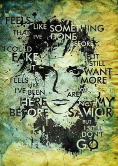 """Self Portrait"" by Magdalena Wozniak Self portrait with massive attack lyrics and futura font. Ink spatter brushes form qbrush, textures from cgtextures and sxc.hu"