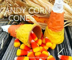 Candy Corn Cones Recipe { #12DaysOfHalloween }