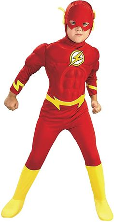 DC Comics Deluxe Muscle Chest The Flash Costume, Small ! DC Comics Deluxe Chest The Costume, Small Dc Comic Costumes, Toddler Costumes, Boy Costumes, Super Hero Costumes, Halloween Costumes For Kids, Superhero Halloween, Kids Costumes Boys, Toddler Halloween, Family Halloween