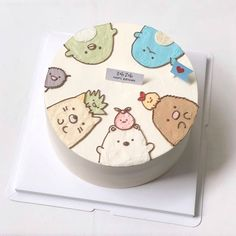 Cake Decorating Designs, Cake Decorating Techniques, Pretty Birthday Cakes, Pretty Cakes, Korea Cake, Simple Cake Designs, Pastel Cakes, Cute Baking, Frog Cakes