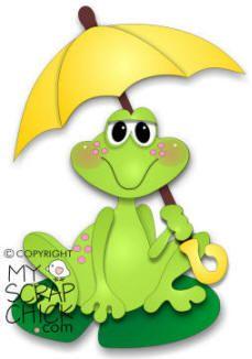Paper piecing - rain frog