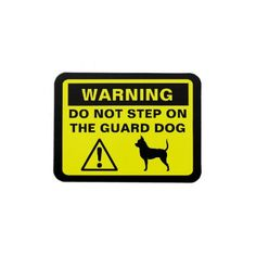 Chihuahua Guard Dog Warning! LOL, as a big dog owner, this is too funny!