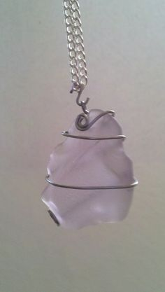 Lavender Sea Glass Pendant #sea glass beads & #sea charms: http://www.ecrafty.com/c-780-sea-glass-beads.aspx?pagenum=1===newarrivals=60