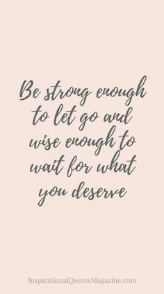 Strong and wise