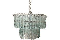 Italian Glass Chandelier on OneKingsLane.com