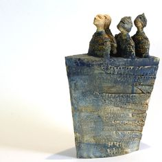 5 Knights&Boat, Ceramic sculpture, Ceramic, Art, Figurine, Clay by arekszwed on Etsy
