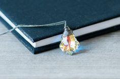 SWAROVSKI CRYSTAL   Swarovski Crystal Necklace Bridal Jewelry Baroque by DevikaBox #swarovski #crystal #necklace #jewelry #baroque #iridescent #fashion #gift #devikabox #forher #bridal #wedding #bridesmaid