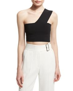 One Shoulder crop top. I'd like to make one of these similar to a sports bra BGS16_TBSS5