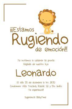 Invitación Baby Shower León Baby Lion Safari