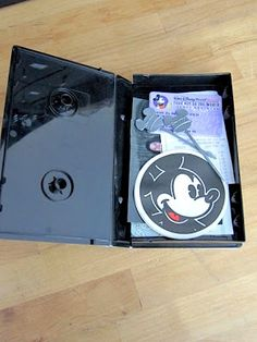 recycled vhs case as a 'scrapbook' for souvinirs