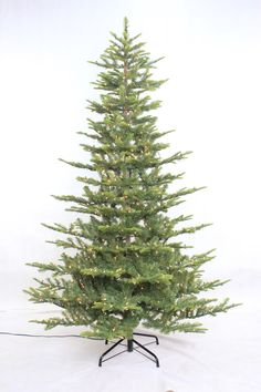 Aspen 7.5' Green Fir Artificial Christmas Tree with 700 Warm White Lights with Stand