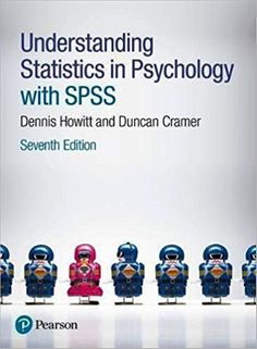 "Understanding statistics in psychology with SPSS 7th editionISBN-10: 1292134216ISBN-13: 978-1292134215It is a PDF eBook Only ! ! Digital Book Only! . Download File ""IMMEDIATELY"" after successful payment. Buyers will receive the Download Link in the Buyer's Order Confirmation Email upon completion of"