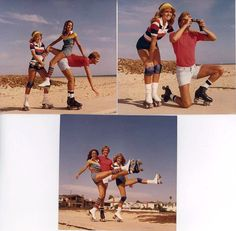 Wow! Look at those shorts! Roller skating vintage pics.