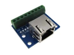RJ45-Ethernet-Connector-Breakout-Board-w-LED-Screw-terminals-Spring-C6-14